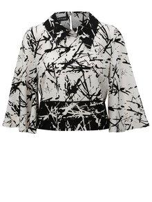Bluza negru-alb crop cu model THAÏS & STRÖE