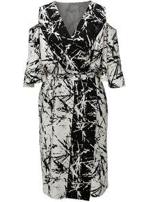 Čierno-biele vzorované zavinovacie šaty THAÏS & STRÖE