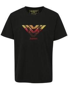 Čierne pánske tričko s potlačou BUSHMAN Encinal