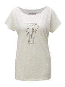 Tricou de dama crem cu print de elefant BUSHMAN Galleria