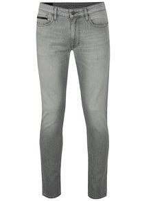 Svetlosivé pánske skinny rifle Calvin Klein Jeans
