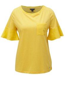 Tricou galben cu volane pe maneci Nautica