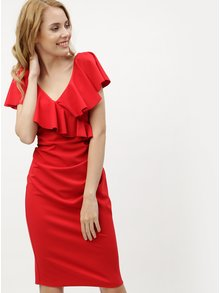 Červené šaty s volány ZOOT