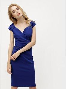 Modré šaty s prekladaným výstrihom ZOOT