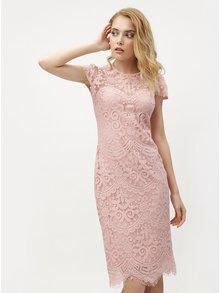Světle růžové krajkové šaty ZOOT