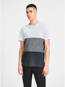 Šedo-bílé žíhané tričko Jack & Jones Deep