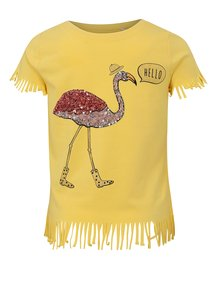 Žlté dievčenské tričko so strapcami name it Johanne