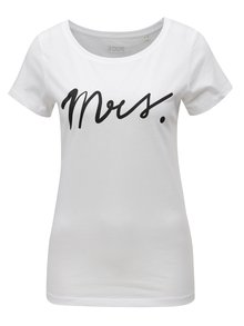 Biele dámske tričko s potlačou ZOOT Mrs