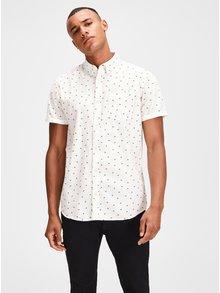 Bílá košile s motivem palmy a krátkým rukávem Jack & Jones Cambridge