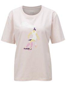 Světle růžové dámské tričko s potiskem ZOOT Stay wild