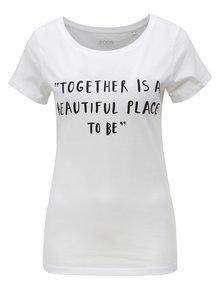 Bílé dámské tričko s potiskem ZOOT Together