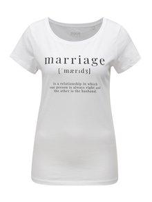 Biele dámske tričko s potlačou ZOOT Marriage