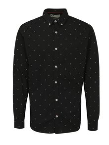 Černá vzorovaná slim fit košile s dlouhým rukávem Jack & Jones Philip