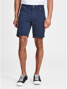 Pantaloni scurti albastru inchis cu croi comfort fit Jack & Jones Rick