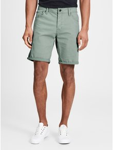 Pantaloni scurti verde mentol cu croi comfort fit Jack & Jones Rick