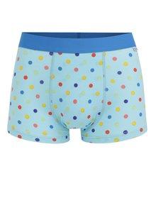 Boxeri albastri cu buline Happy Socks Dot