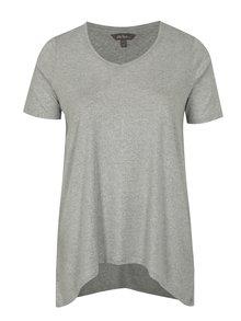Šedé metalické tričko Ulla Popken