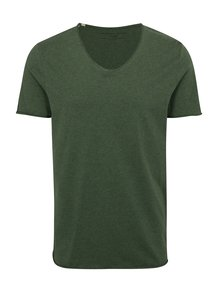 Tricou verde Selected Homme Shine