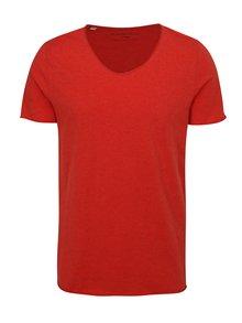 Červené tričko Selected Homme Shine