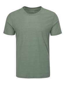 Tricou gri-verde in dungi Selected Homme Stripe