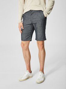 Pantaloni scurti albastru inchis melanj din in Selected Homme Paris