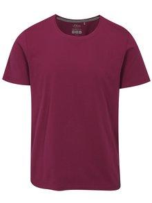 Tmavoružové pánske regular fit tričko s.Oliver