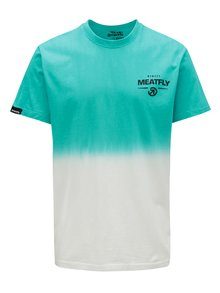 Tricou alb-albastru pentru barbati MEATFLY Spill