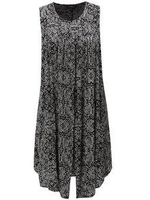 Bílo-černé vzorované šaty Ulla Popken