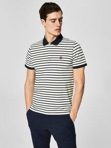 Modro-bílé pruhované polo tričko Selected Homme