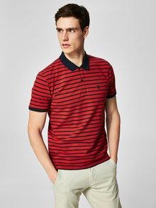 Modro-červená pruhovaná polokošeľa Selected Homme