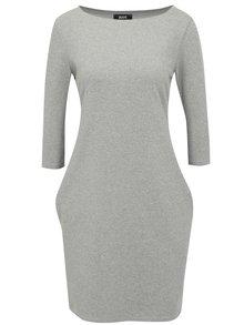 Sivé šaty s 3/4 rukávom ZOOT