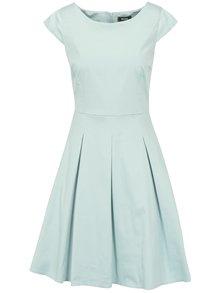 Mentolové šaty s áčkovou sukní ZOOT