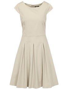 Béžové šaty s áčkovou sukní ZOOT