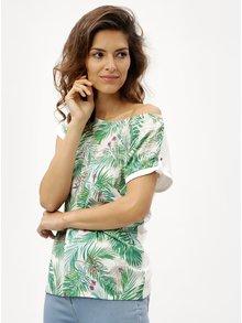 Bílo-zelené dámské vzorované tričko M&Co