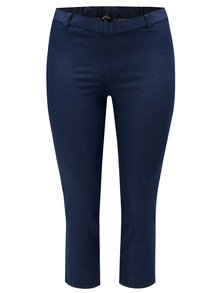 Jeggings albastri crop Ulla Popken
