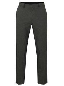 Tmavosivé slim fit nohavice Burton Menswear London