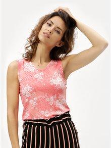 Růžové dámské květované tílko M&Co Sless