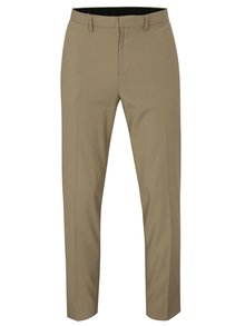 Béžové slim fit nohavice Burton Menswear London