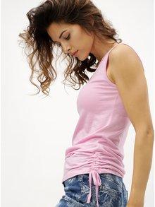 Růžové dámské tílko se stahováním na bocích M&Co