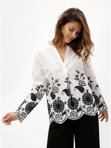 Bluza negru-alb cu madeira DKNY