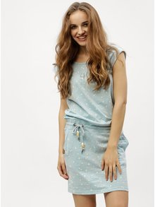 Svetlomodré vzorované šaty Ragwear Penelope