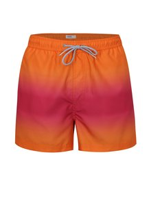 Pantaloni scurti de baie roz-oranj Burton Menswear London