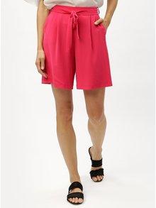 Tmavě růžové dámské kraťasy s vysokým pasem M&Co