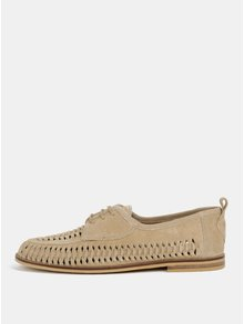 Pantofi bej din piele intoarsa Burton Menswear London