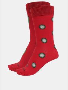 Červené unisex ponožky s motívom paprík Fusakle Chilli 52ede698f3