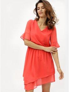 Červené asymetrické šaty VERO MODA Sarah