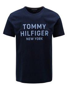 Tmavě modré pánské tričko s potiskem Tommy Hilfiger
