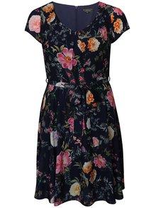 Tmavomodré kvetované šaty Billie & Blossom Curve