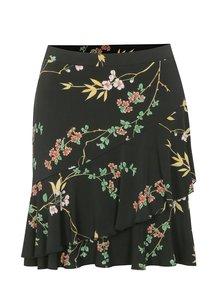 Černá květovaná áčková sukně Dorothy Perkins