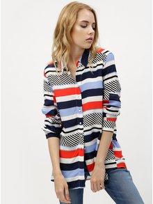 Červeno-modrá dámska pruhovaná košeľa Tommy Hilfiger